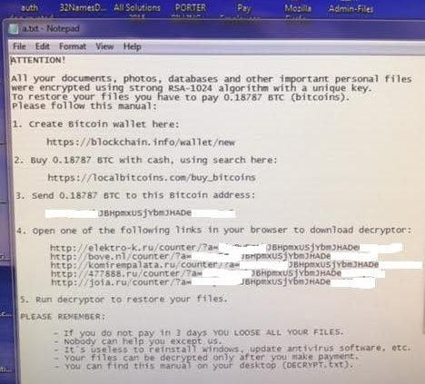 IGTG Cryptolocker Help